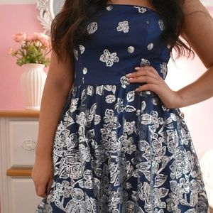 Dresses & Skirts - Navy Sequin Dress